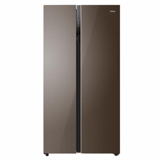 冰箱 对开门  海尔冰箱bcd-540wdgi风冷(自动除霜)玛瑙棕分层多路送